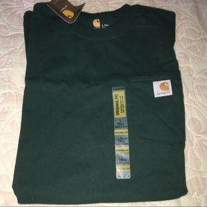 "Men's Carhartt short sleeve, large ""tall"" fit"